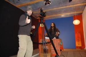 Cash in studio