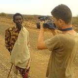 Filming in Africa