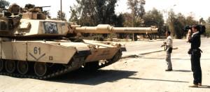 Shooting a tank