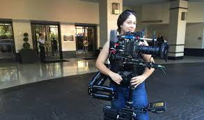 Lopez with Steadicam rig