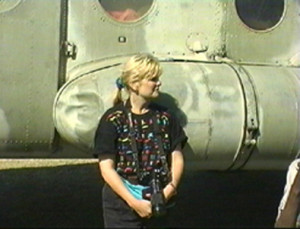 Voss with helicopter